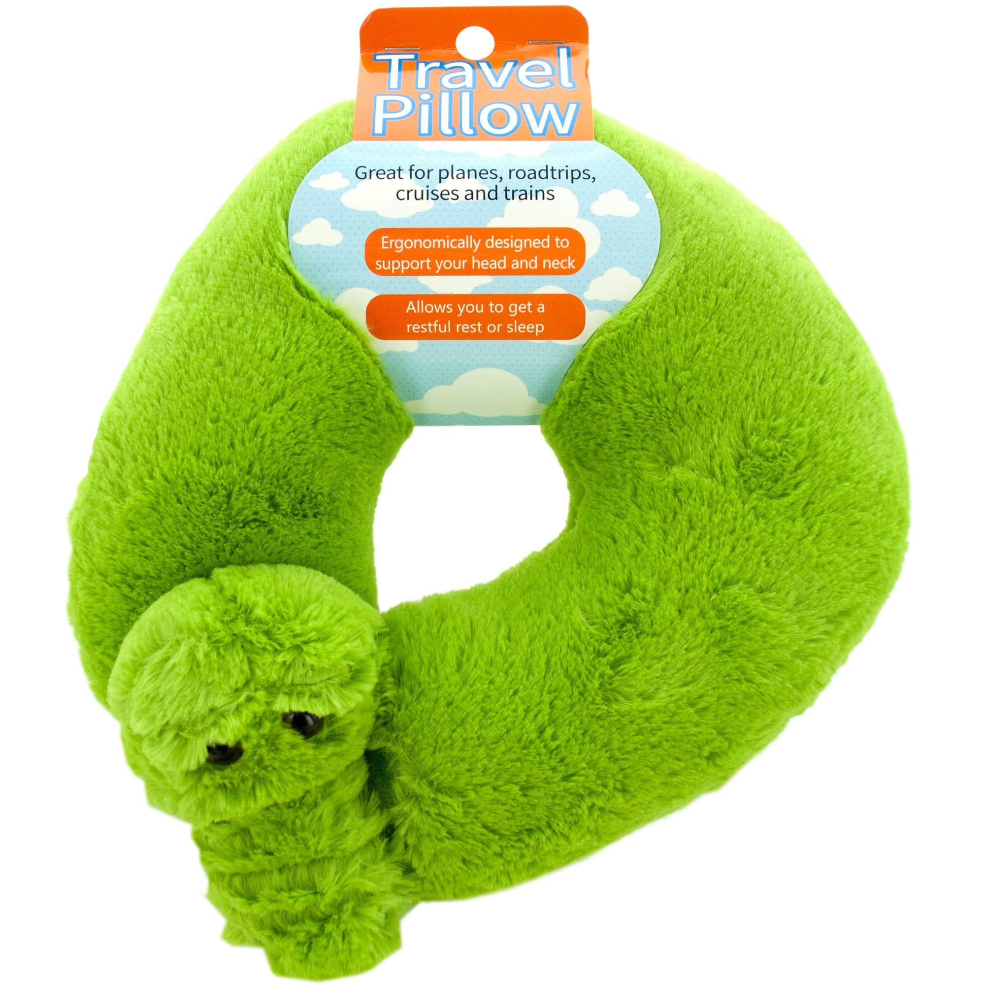 Plush Alligator Travel Pillow