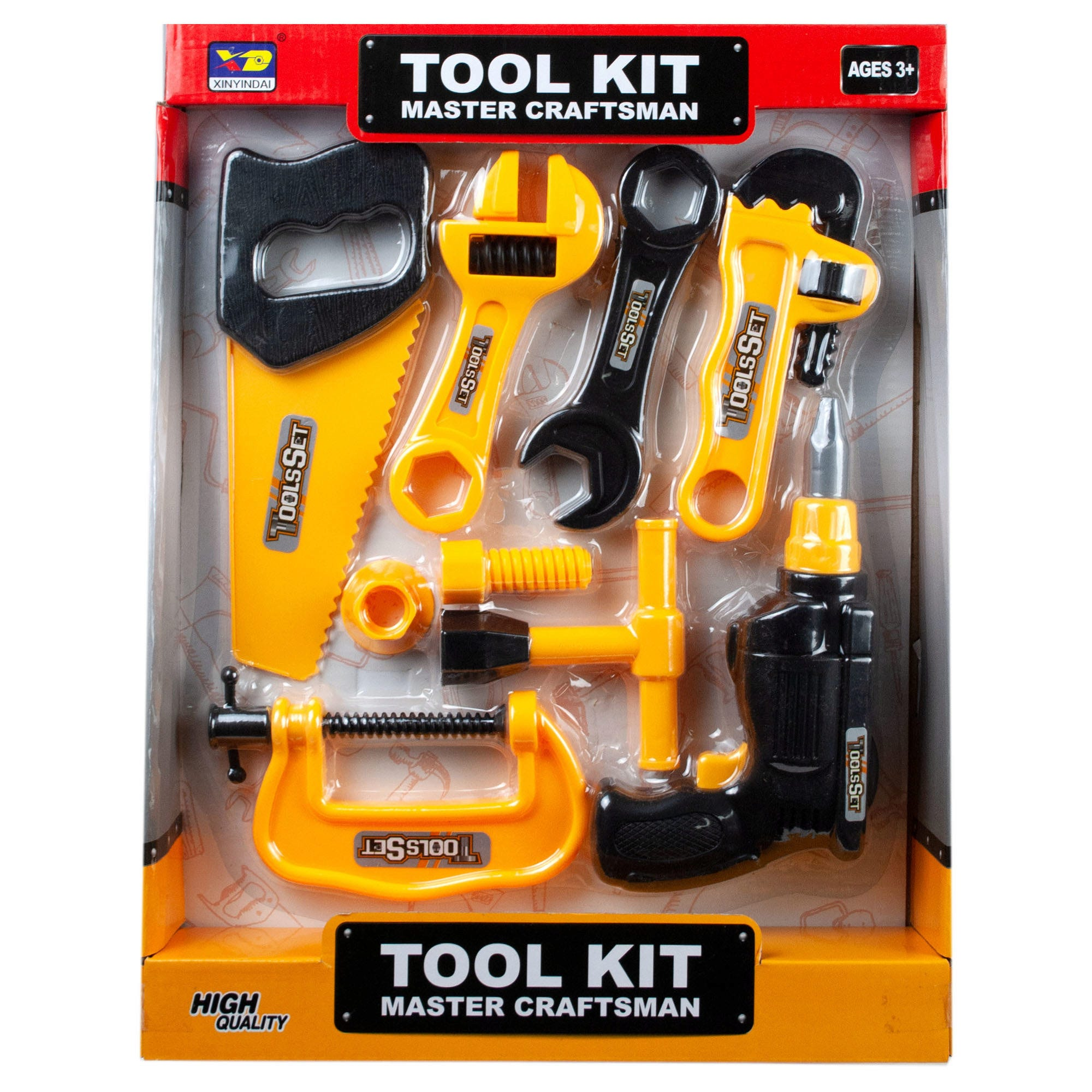 Assorted Construction TOOLS Play Set- Qty 4