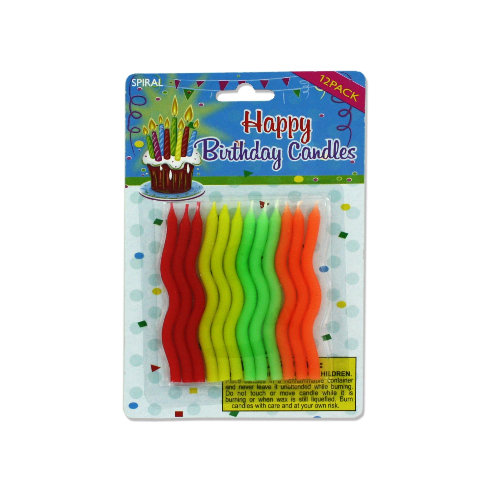 Spiral Birthday CANDLEs- Qty 24