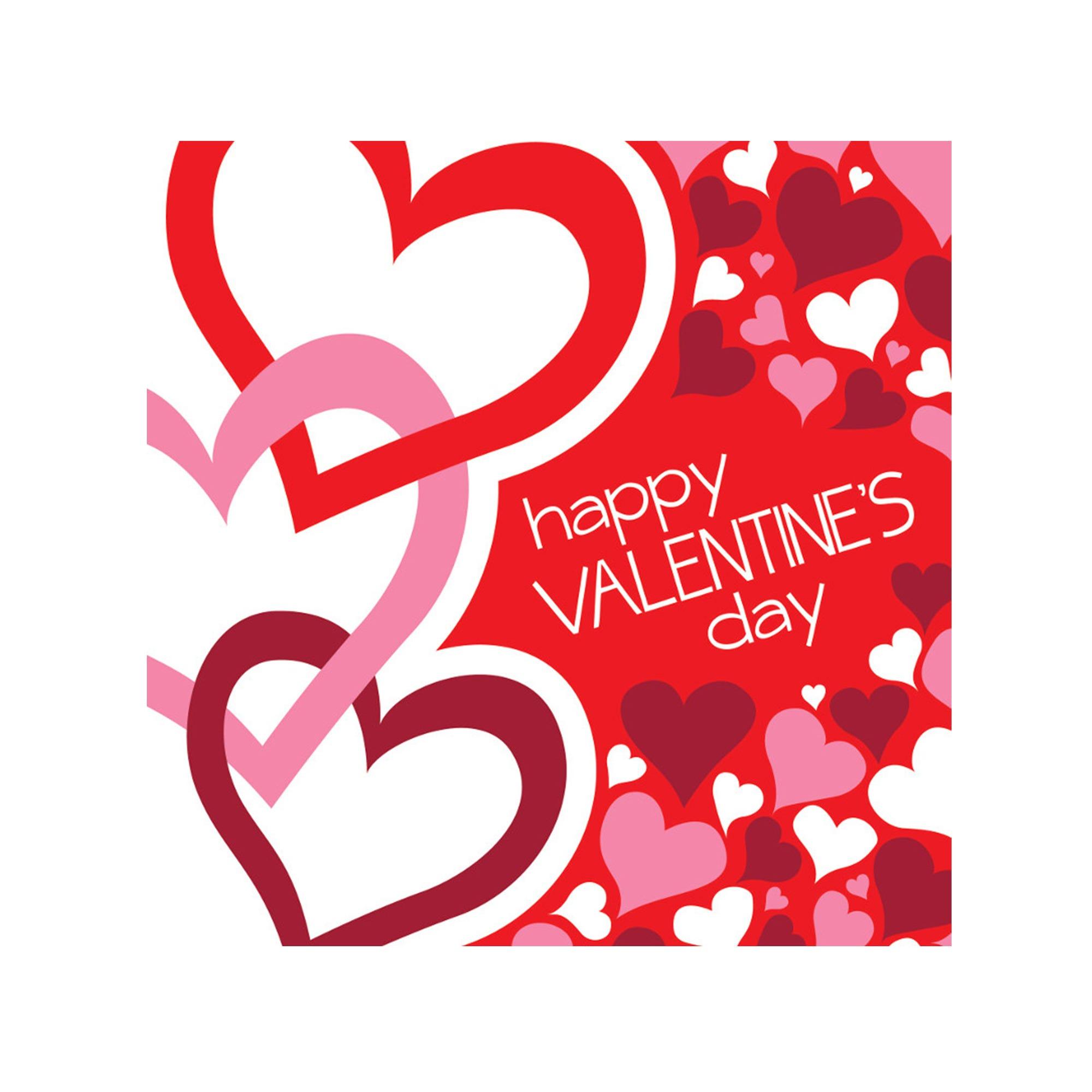 Happy VALENTINE's Day Lunch Napkins Set- Qty 24