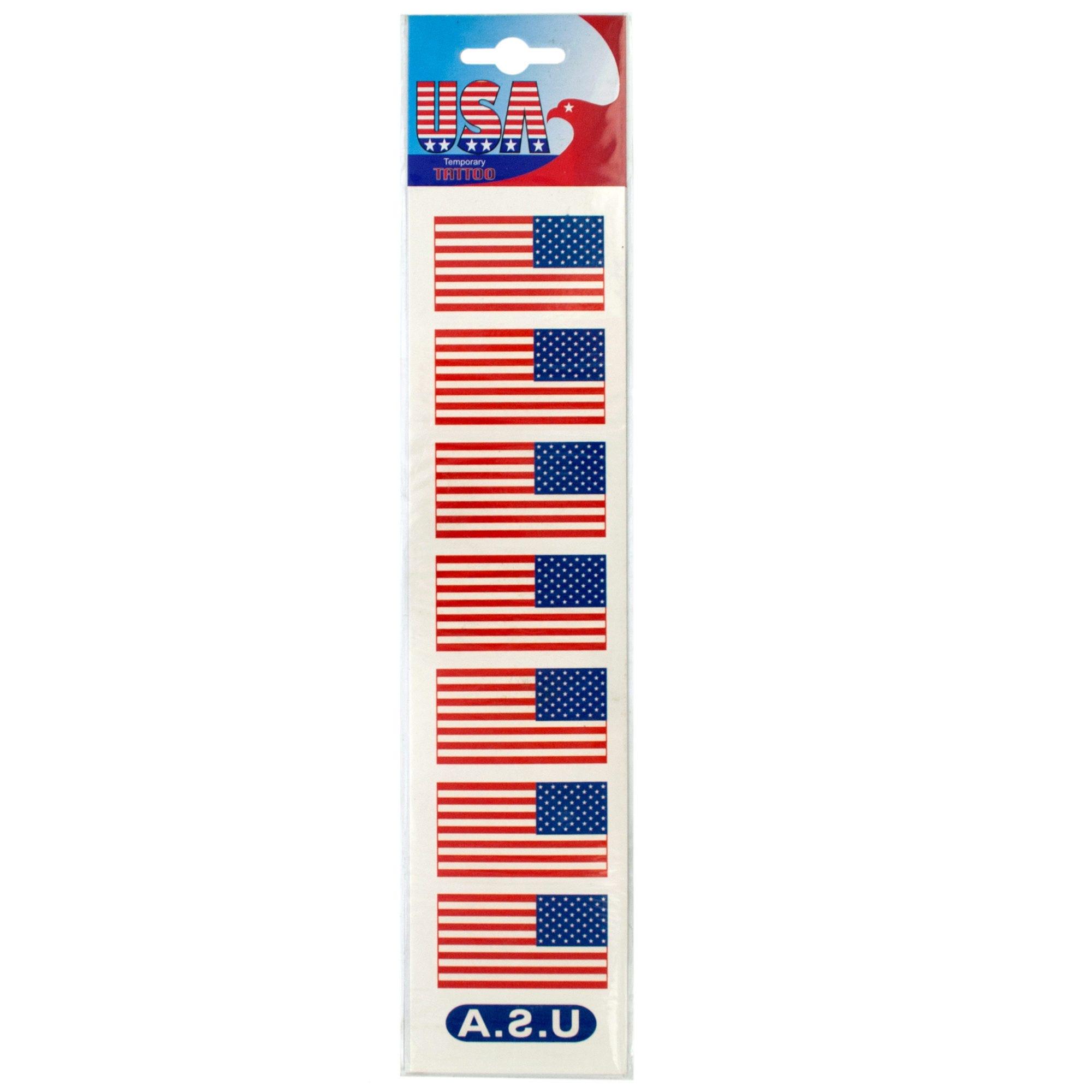 USA Flag Temporary TATTOOs- Qty 24