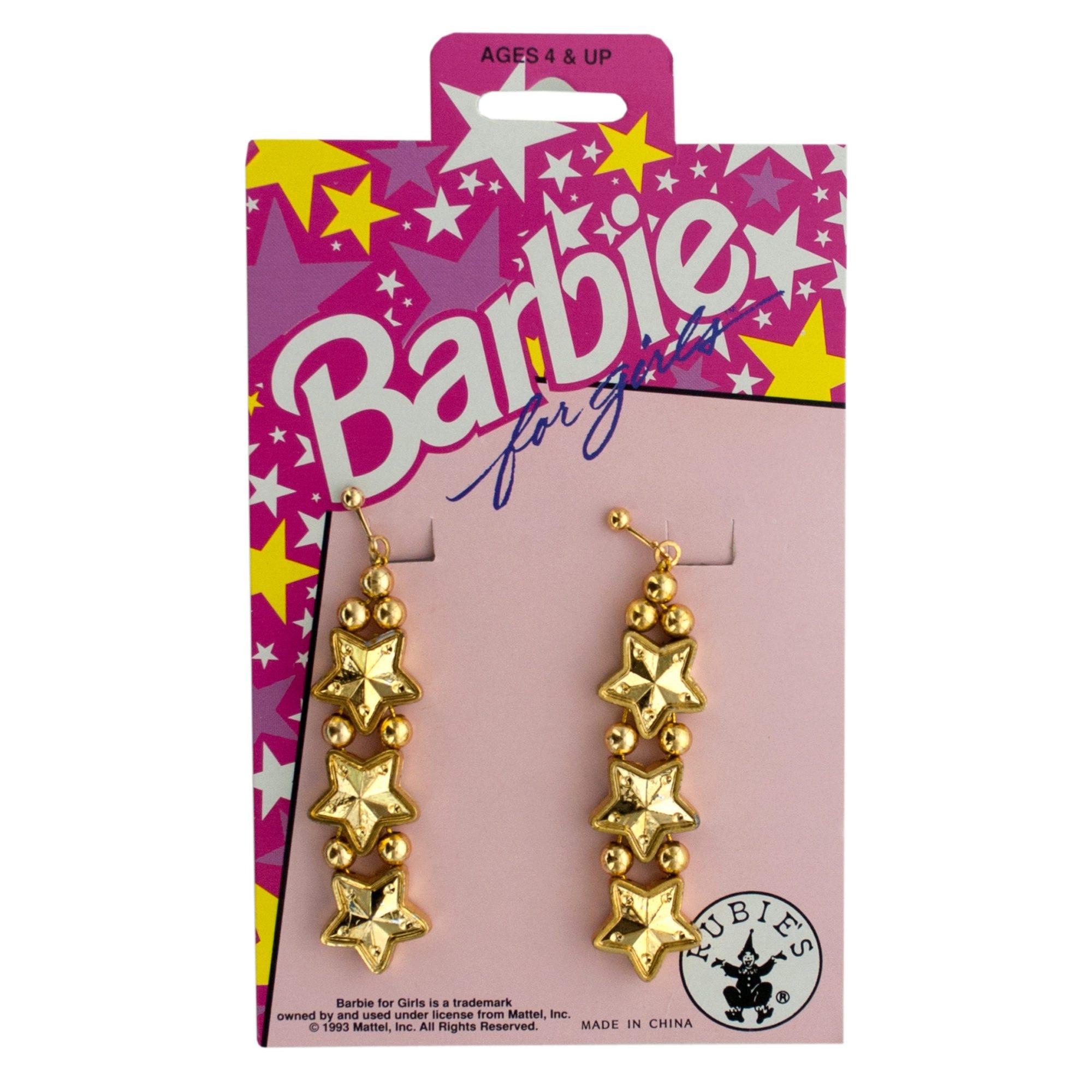BARBIE for Girls Gold Star Dangle Earrings- Qty 24