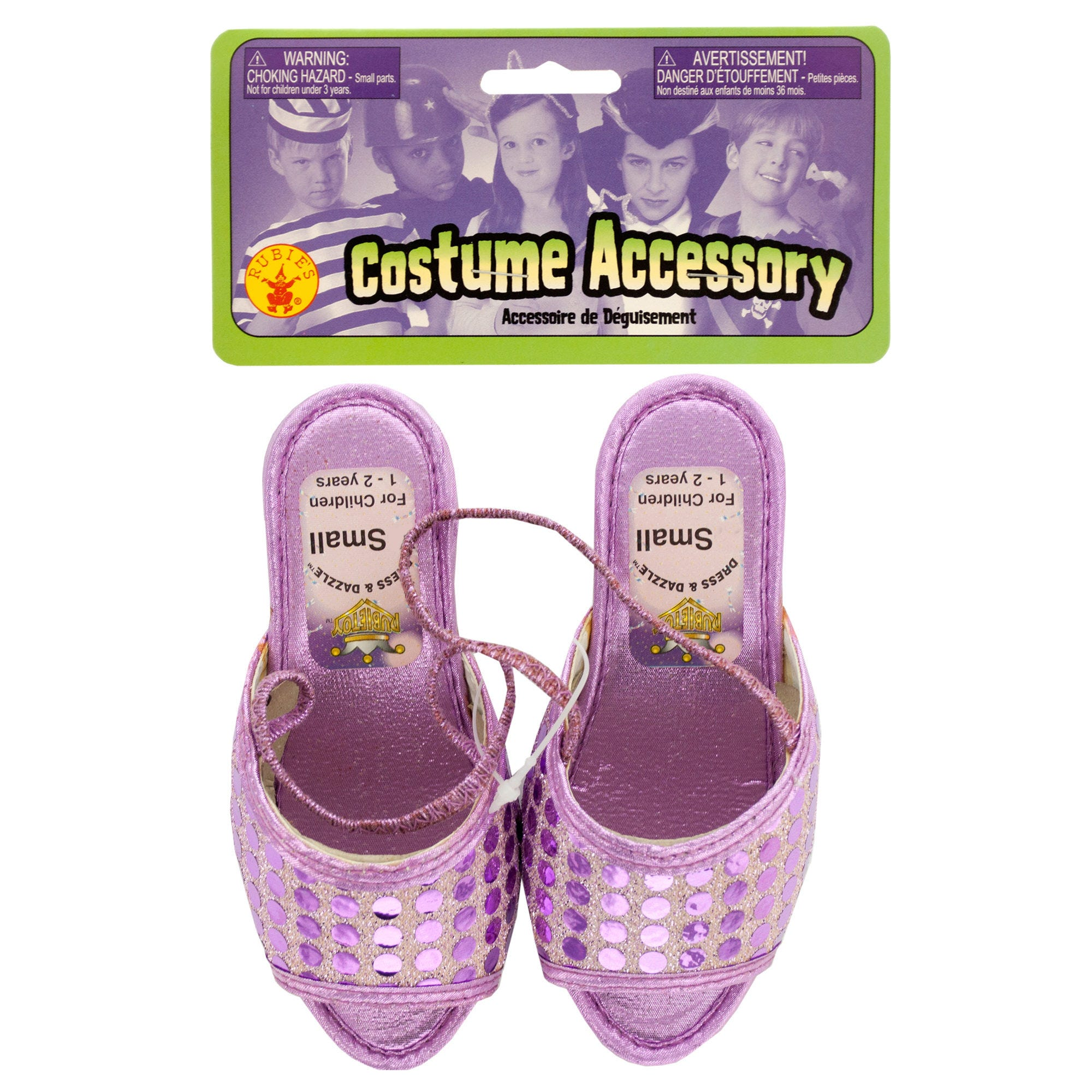 Small Dress & Dazzle Girls' Lavender Sequin Dot SHOES- Qty 24