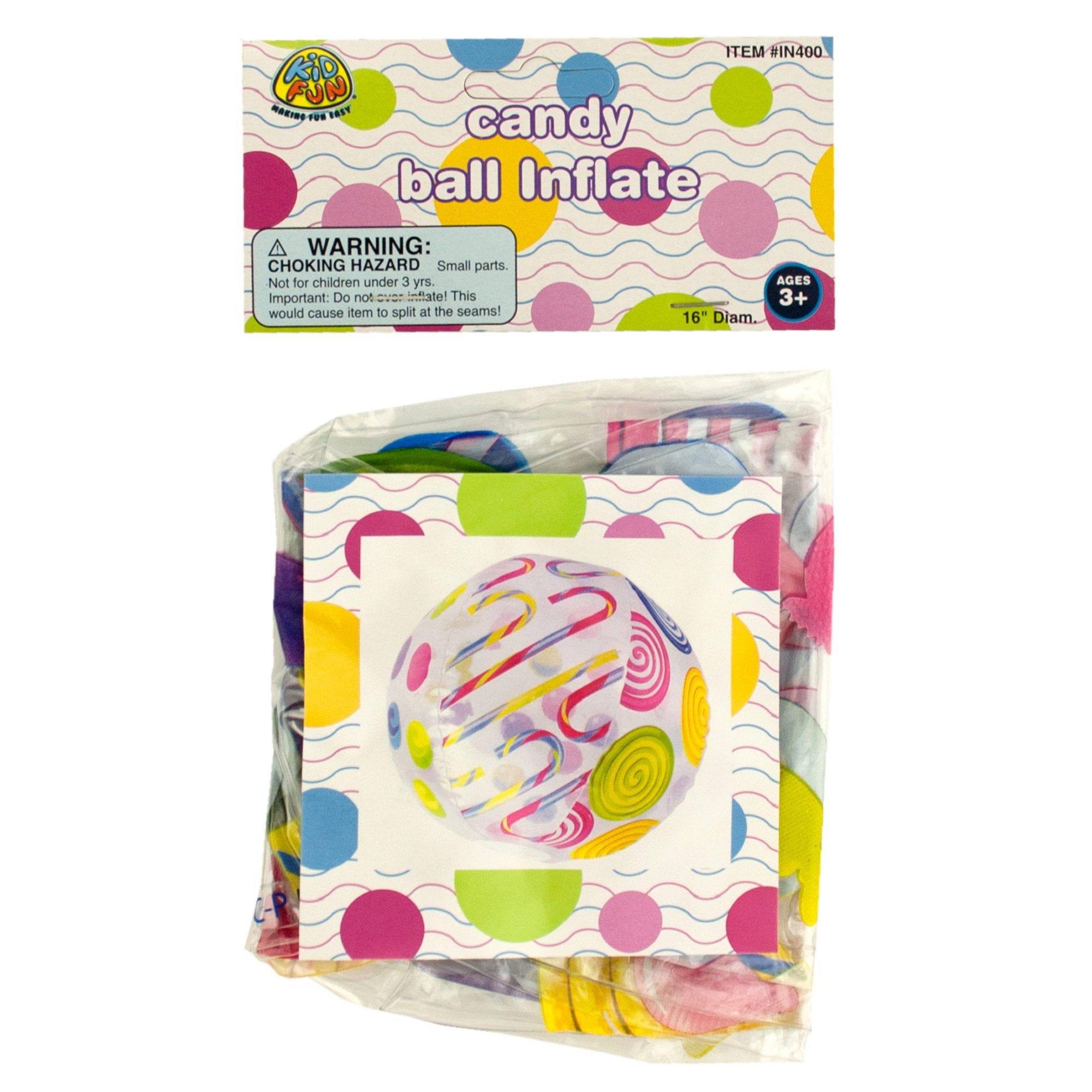 Candy Print BEACH Ball- Qty 24