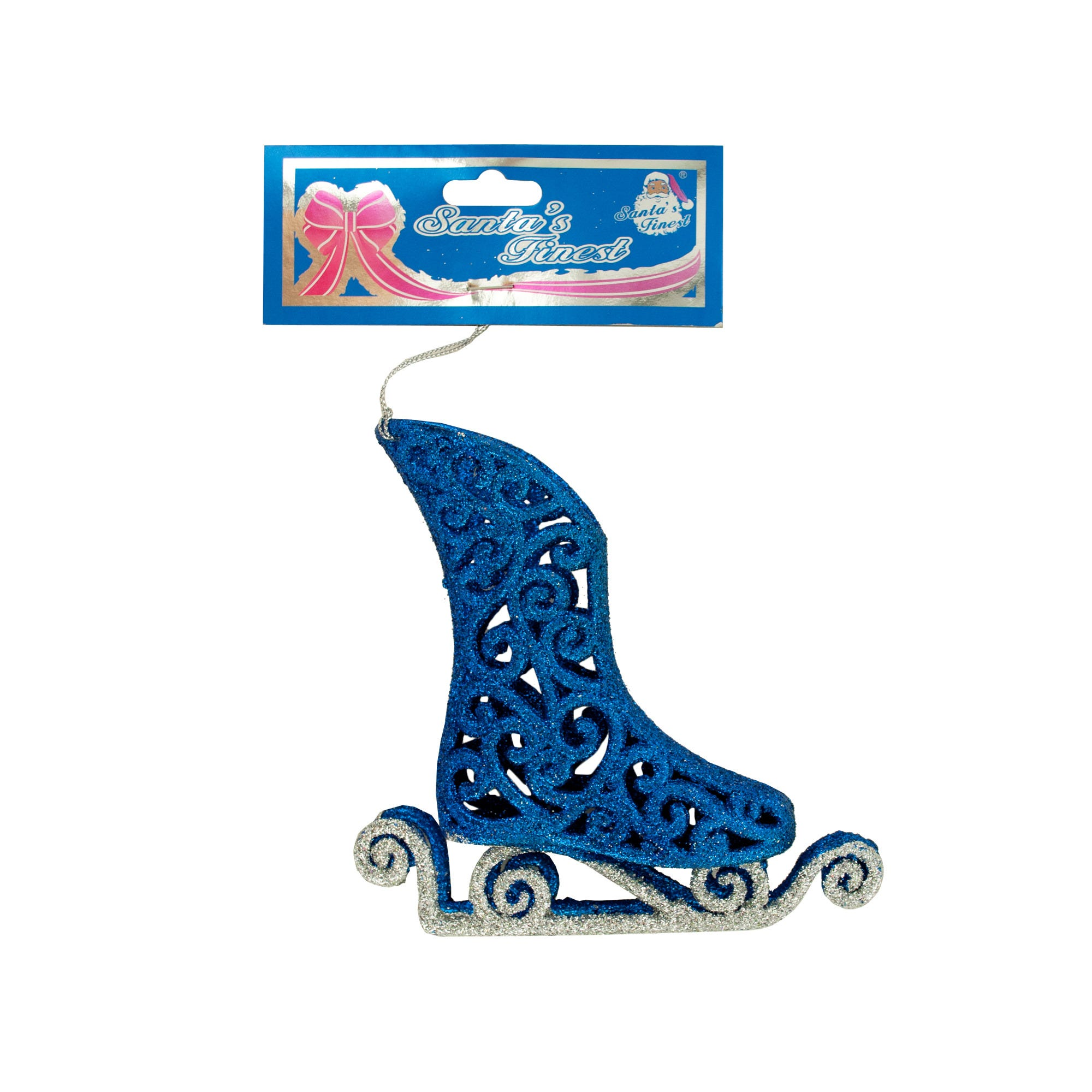 Christmas 3D Blue ICE SKATE Hanging Ornament- Qty 24