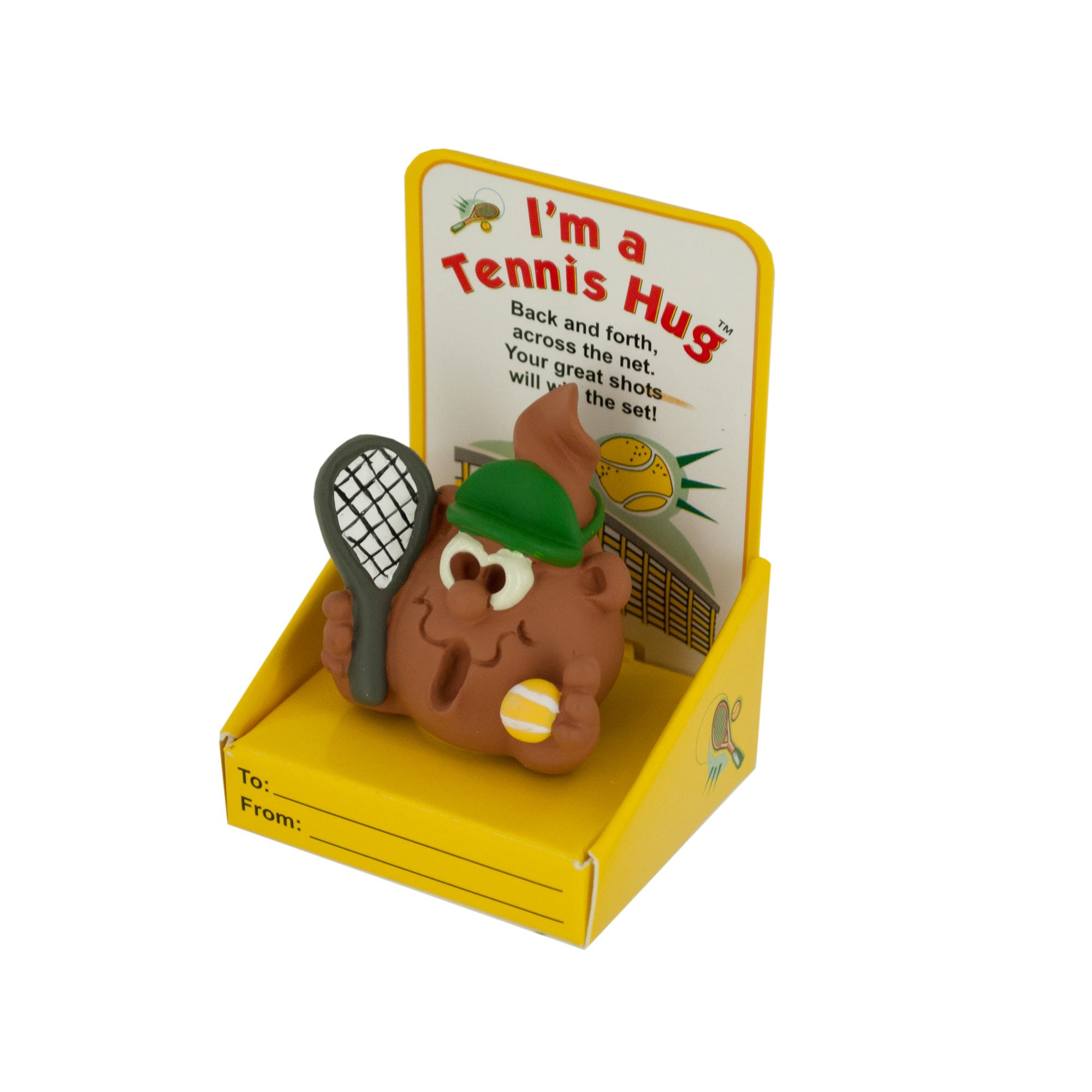 Tennis Hug FIGURINE with Gift Boxes Countertop Display- Qty 24