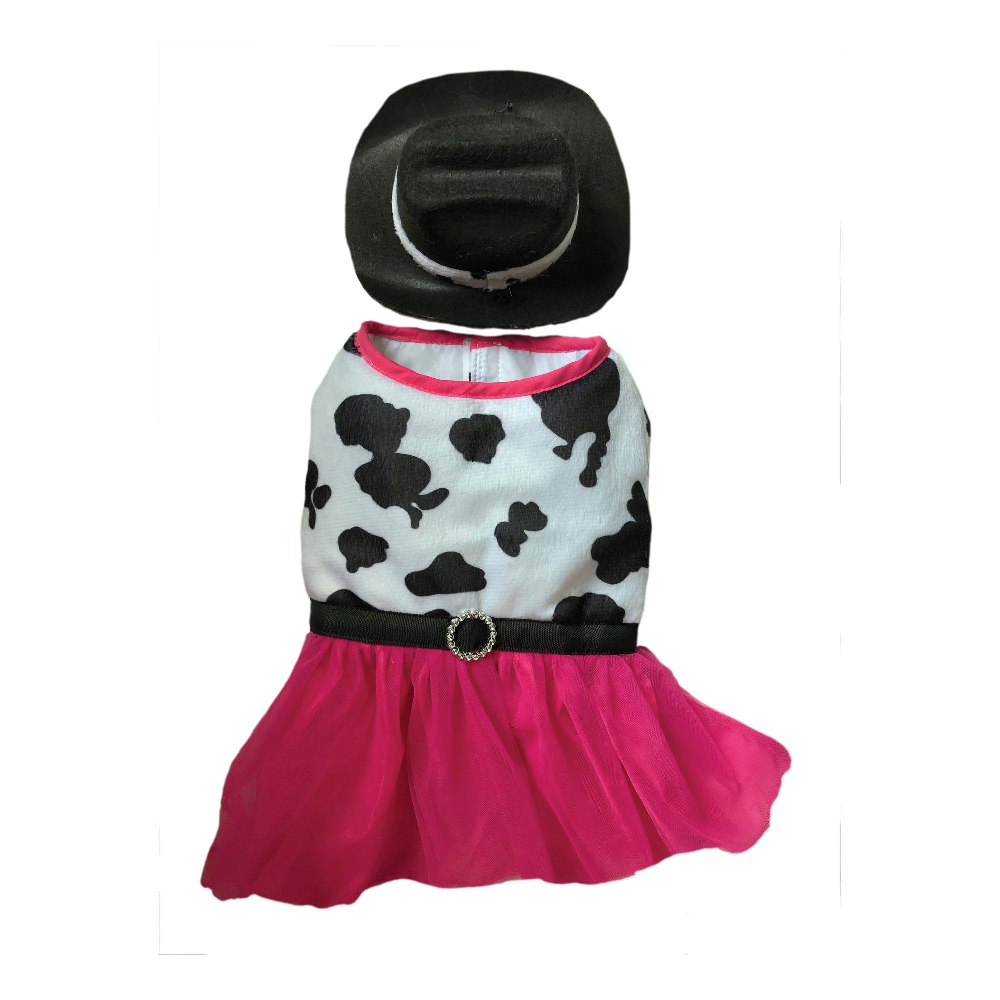 Cow DRESS Pet Costume- Qty 4