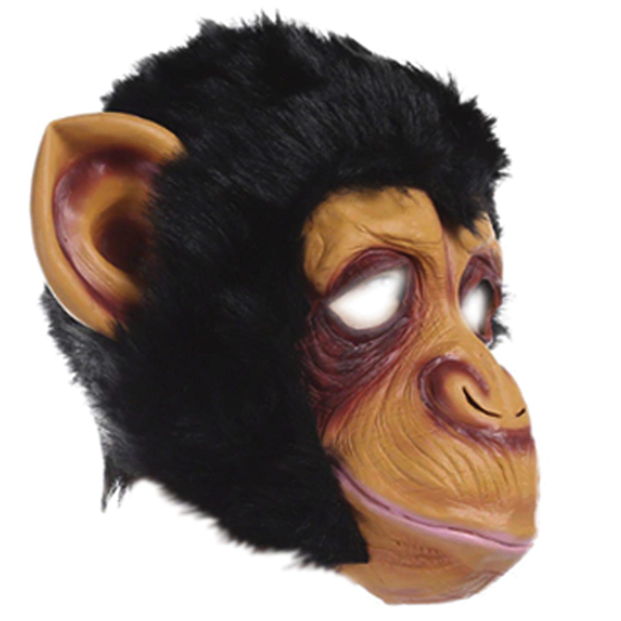 HALLOWEEN Furry Monkey Mask - Qty 4